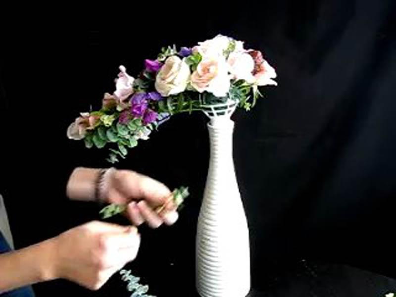 Каскадные букеты невесты мастер класс